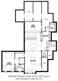 Country Style House Plan - 4 Beds 4.5 Baths 4852 Sq/Ft Plan #928-1 - Houseplans.com Ranch House Plans, Best House Plans, House Floor Plans, Country Style House Plans, Country Style Homes, Country Kitchen Flooring, Basement Floor Plans, One Story Homes, Story House