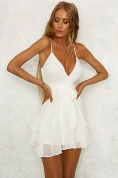 Our Teenage Fantasy Playsuit features a v-neckline supported by thin adjustable straps. Hoco Dresses, Homecoming Dresses, Sexy Dresses, Cute Dresses, Dress Outfits, Casual Dresses, Fashion Dresses, Dress Up, Cute Outfits