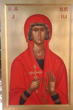 Byzantine Icons, Byzantine Art, St Margaret, Orthodox Icons, Mona Lisa, Saints, Female, Artwork, Lord