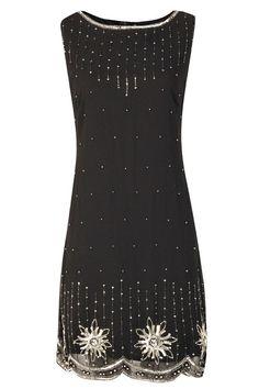 20er Jahre Stil Gatsby Tunika Top Abend verschönern Shift Kleid Vintage Kleid