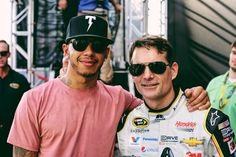 Lewis Hamilton prestigia despedida de Jeff Gordon na Nascar (Foto: Reprodução/Instagram)