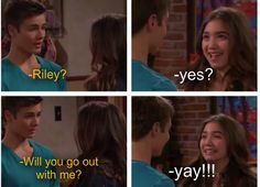 gif girl meet world lucas kissed riley - Google Search
