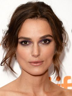 Shimmery lilac eyeshadow—it's a thing! Let's break down Keira Knightley's latest makeup look: http://beautyeditor.ca/2013/09/11/keira-knightley-makeup-purple-eyeshadow/