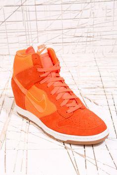 official photos 34284 fd5e3 Nike Orange Sky Hi-Top Mesh Dunk Trainers