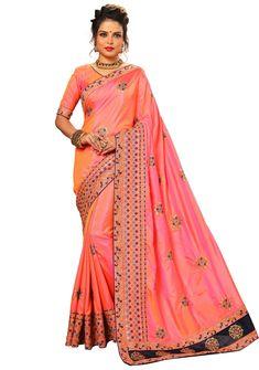Peach Saree, Indian Sarees Online, Saree Collection, Sari, Shopping, Fashion, Saree, Moda, Fashion Styles