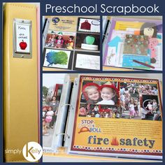 Tips And A Peek Into A Finished Preschool Scrapbook | Simply Kelly Designs