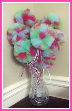 1 Large Poof Ball Tulle Princess Wand Party Favor by DazzleMePink, $7.00