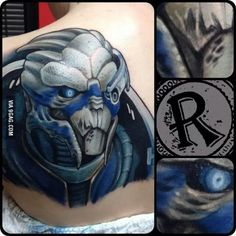 I'm Garrus Vakarian and this is my favorite place on your back.