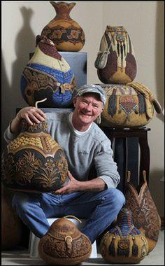 Gourd artist, Jordan Straker
