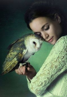 Fantastical Flitherings. Girl with Barnowl.