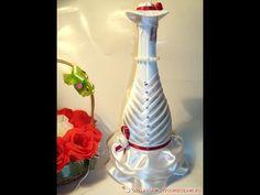 Свадебная бутылка- невеста. Украшения для свадьбы - YouTube