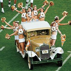 Southern Football Traditions 2012 ! the Rambling Wreck made it~  go Jackets!!!