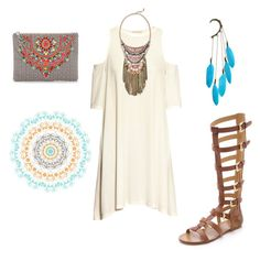 """""""Boho"""" by izelaixchel ❤ liked on Polyvore featuring H&M, Star Mela, belle by Sigerson Morrison and Anni Jürgenson"""