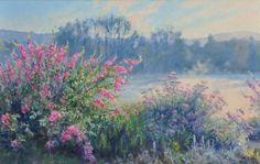 Jardin du peintre le matin Oeuvre de Michèle Ratel 61 X 38 (12M)