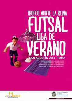 Cartel de la liga de verano de FUTSAL. Toro. By El Santo Job.