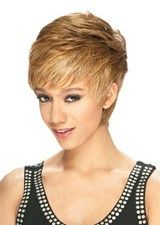 Chic #14H Short Stragiht Layered Synthetic Wig With Bangs
