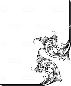 A true hand engraving scrollwork designed for page corners. Leather Art, Sewing Leather, Carving Designs, Stencil Designs, Motif Arabesque, Custom Motorcycle Paint Jobs, Filigree Tattoo, Ornament Drawing, Leather Tooling Patterns