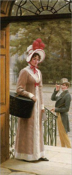 a source of admiration-Edmund Blair Leighton