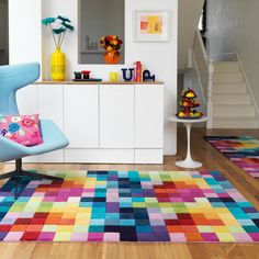 "Funk rugs - multi coloured pure wool  from the rug seller uk - 120x170cm (5'7""x4'0"") : £309.00"