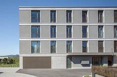 Haefeli Architekten Döttingen Switzerland Architects Switzerland, Architects, Facade, Multi Story Building, Homes, Building Homes, Facades