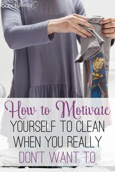 Great list of ways to motivate yourself to clean! Definitely saving this for…