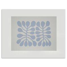 Emma Lawrenson Twenty Eight Leaves, Screen Print, Blue/Grey, 30 x 40cm