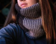 Instant Download  Crochet Pattern  Cable Mittens and Cowl