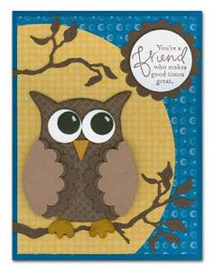 SU owl punch - love the scalloped wings - bjl
