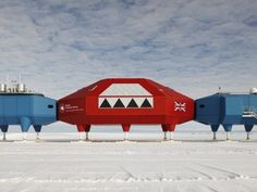 Antartic Research Station Halley VI by Hugh Broughton Architects.  Photography by James Morris