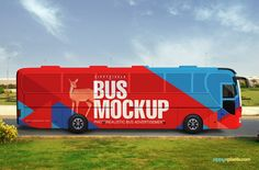 Wrap your advertising design on this realistic bus mockup | 11 Outdoor mockup…