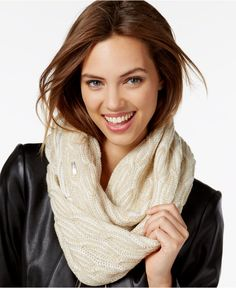 Calvin Klein Shaker Stitch Cable Infinity Scarf - Hats, Gloves & Scarves - Handbags & Accessories - Macy's