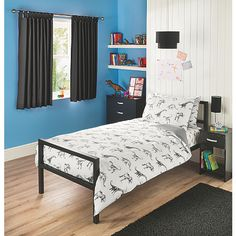 Cushion Dinosaur Black White Silver Trees Jurassicveedubz Interesting Aaron Bedroom Set Inspiration