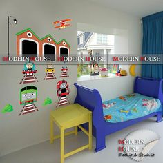 Lovely RoomMates RMK1035SCS Thomas The Tank Engine And Friends Peel And  Stick Wall Decals Amazon.