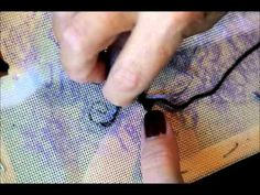Needlepoint Outlining Demonstration - YouTube