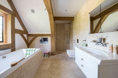 Classic Sparta Honed Filled Travertine. Bathroom tiles. Mandarin Stone.