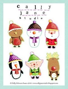 These gift tags are adorable. I love how colorful they are. They are from Cally Jane Studio - So cute!  You can go to We Love To Illustrate to download these and lots more - all created by very talented artists.