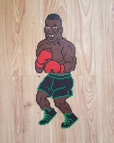Mike Tyson from Punch-Out on the NES #miketyson #boxing #videogames #nes #nintendo #crafts #beads #punchout #retro #art #beadart #pixelated #pixelart #pixels #pixelbeads #pixelbeadart #nabbibeads #hamabeads #perlerbeads #tyson
