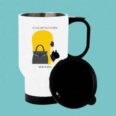 Tasse isotherme, tasse à personnaliser avec votre profil birdy réalisé par natacha birds