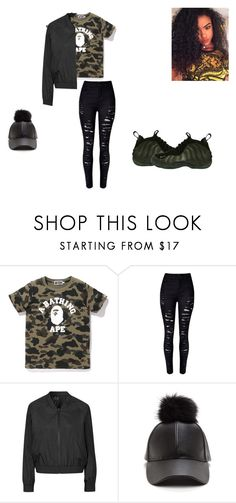 """""""Camo"""" by qveenkiki on Polyvore featuring NIKE and Topshop"""
