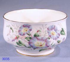 morning glory porcelain | Royal Albert Friendship Morning Glory Bone China Sugar Bowl