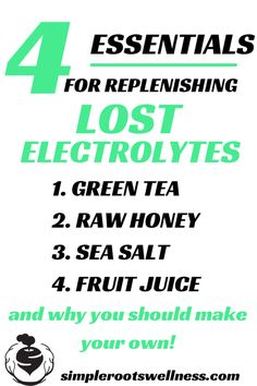 The Essentials For Replenishing Lost Electrolytes | simplerootswellness.com