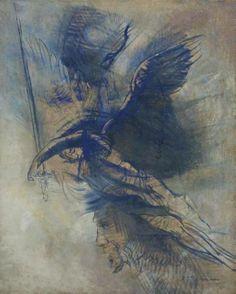 Odilon Redon (1840-1916). L'ange guerrier