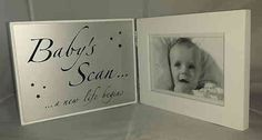 Baby Scan Picture Frame New Life New Life, Christening, Picture Frames, New Baby Products, Fun, Pictures, Portrait Frames, Photos, Picture Frame