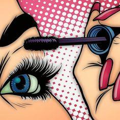 Pop Art Drawing, Art Drawings, Dibujos Pin Up, Farmasi Cosmetics, Mode Pop, Pop Art Girl, Pop Art Illustration, Female Art, Art Sketches
