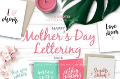 Happy Mother's Day Lettering Pack - Objects