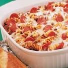 Italian Pasta Casserole.  This is a healthy, diabetic friendly AND tasty dish!  Start to finish in less than an hour.