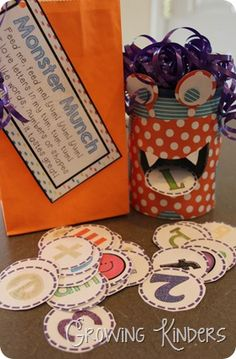 Letter fun with monster munch!! Great for beginning of Kindergarten!!