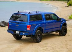Sport by LEER features curved glass door with integrated curved waterfall tail gate cover for superior design and unequaled construction and materials. Ford F150 Custom, Ford F150 Fx4, 2018 Ford F150, F150 Truck, Ford Trucks, Pickup Trucks, Ford Raptor, Camper Shells, Cars
