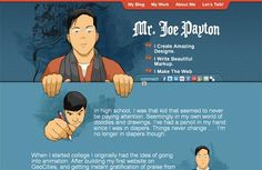 """This web design showcase features beautiful, impressive """"About me"""" inspiration."""