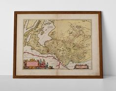 Old Map Dumbarton, Loch Lomond, originally created by Willem Janszoon Blaeu, now available as a 'museum quality' classic decoration print. Loch Lomond, Historical Maps, Antique Maps, Travel Posters, Glasgow, Giclee Print, Vintage World Maps, Museum